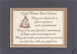 GOD BLESS Our HOMEs Family PEACE verses poems plaques