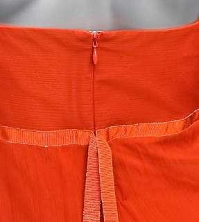 MARA Tangerine SILK CHIFFON Long Goddess Gown Formal Evening Dress 6/8