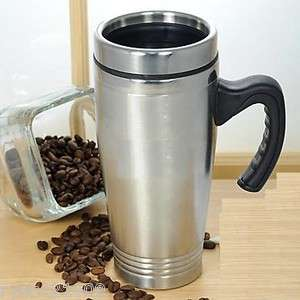NEW DOUBLE WALL Stainless Steel Insulated Travel Coffee MUG 16 OZ Fast