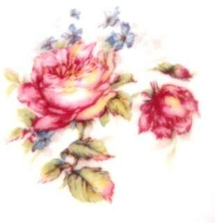 FRANCE #72 SALAD PLATE PINK ROSES W/ YELLOW & BLUE & GOLD