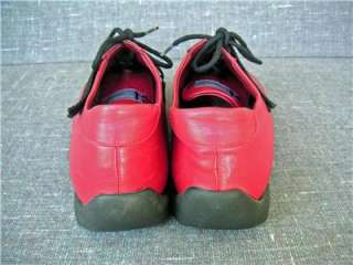 Womens VERA GOMMA Design Red Leather Shoes SZ 39 Italy
