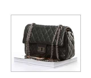 New Lady Patent Leather Quilted Clutch Chain Cross Shoulder Evening