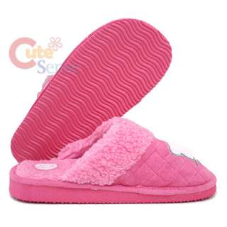 Sanrio Hello Kitty Pink Quilted Plush Slipper  One Size  Adult size