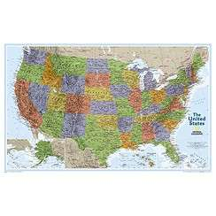 USA/UNITED STATES WALL MAP POSTER   NATIONAL GEOGRAPHIC