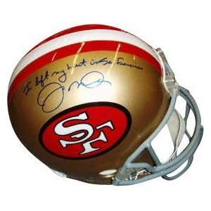 Joe Montana San Francisco 49ers Autographed Riddell Deluxe