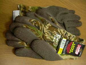 NEW Multi purpose Camouflage Latex Gripping Gloves M