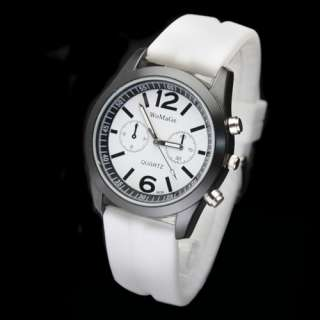 Fashion Ladys Womens Quartz Watch Silicone Wrist Watch 10 Color
