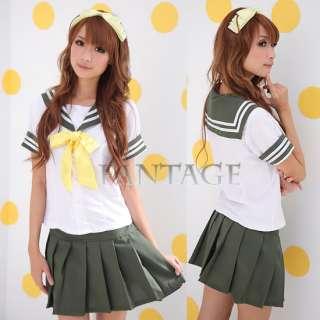 Japanese Japan School Girl Uniform Cosplay Costume New