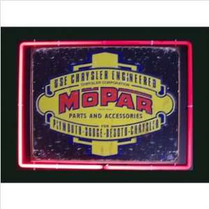 Neon Framed Tin Sign Mopar Neon Framed Tin Sign Neon Frame Color Blue