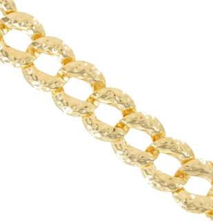 Necklace Big Chunky Yellow Gold Tone Chain Hammered Link Collar