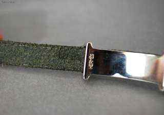 Authentic HERMES HAPI Black Leather Bracelet Triple / Quadruple Wrap w