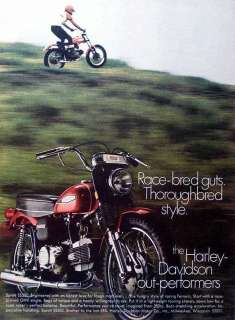 print advertising for Harley Davidson Sprint SS 350 motorcycle