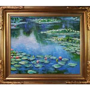 Art Monet Water Lilies Painting with Florentine