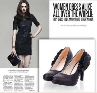 2012 womens vogue flowers high heel PLATFORM PUMP shoes US5 10.5 #049