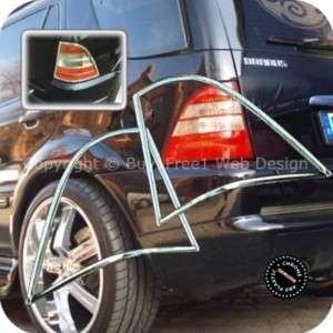 Mercedes Benz W163 ML Class Chrome Tail Gate Tail Light Trim Rear Lamp