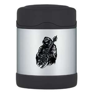 Thermos Food Jar Grim Reaper Heavy Metal Rock Player