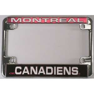 Canadiens Chrome Motorcycle RV License Plate Frame