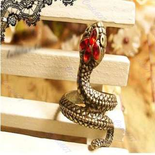 Hot Fashion Vintage Cool Snake Serpent Retro Style Ring Copper Color