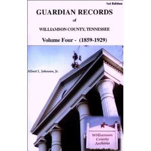 Guardian Records of Williamson County, Tennessee: 1859