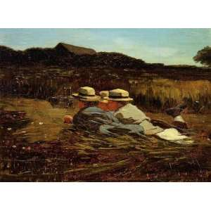 Oil Painting The Bird Catchers Winslow Homer Hand Painted Art