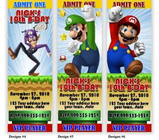 Super Mario Personalized Birthday Invitations & Favors