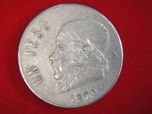 1972 Un Peso 1 Peso Mexico Mexican Coin  COOL #z1
