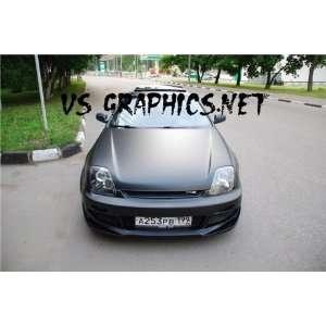 HOOD VINYL BLACK MATTE COLOR 48X 60 HONDA SPORT CAR