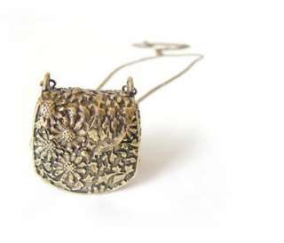 Retro bronze Carve handbags Lovely style pendant Necklace charm XL71