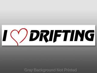 Heart Drifting Sticker  decal love car hobby drift us