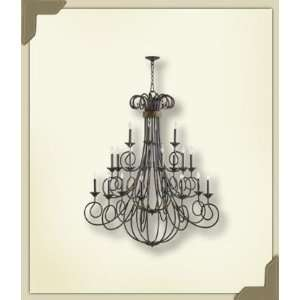 Quorum 6155 20 44 Milena 20 Light Chandelier, Toasted