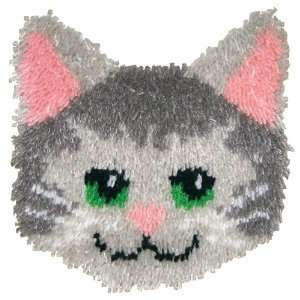 Huggables Animal Kitty Pillow Latch Hook Kit: Arts, Crafts
