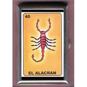 LOTERIA SCORPION GOTH MEXICAN Coin, Mint or Pill Box: Made