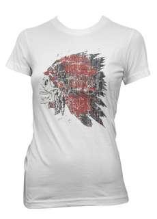 Indian Chief Skull Old School Tattoo Goth Girls T Shirt