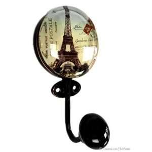 Metal/Glass 3.5 Paris Eiffel Tower Wall Hook Hanger