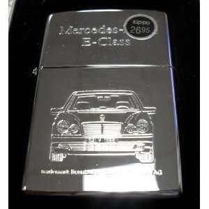 Mercedes Benz E Class Zippo Lighter w/Case Everything