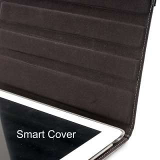 degrees Rotating Swivel Magnetic Smart Leather Stand Cover Case iPad 2