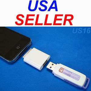 iPOD iPHONE USB AUX ADAPTER FOR FLASH STICK THUMB DATA MEMORY DRIVE US