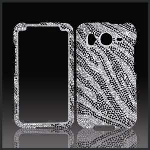 Silver & Black Zebra Cristalina crystal bling case cover