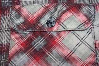 XXL * vtg 70s shadow plaid FLANNEL shirt * grunge lumberjack