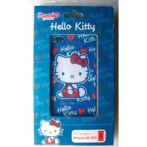 iPhone 4G Hard Cover Back Case ~Blue Hello Kitty~ #12