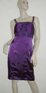 NWT SUE WONG NOCTURNE Purple Beaded Dress 10 $330