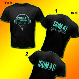 NEW SUM 41 ROCK BAND BLACK T SHIRT   TOSCA SIZE S 3XL