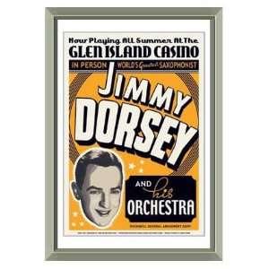 Jimmy Dorsey 1936 Glen Island Casino Concert Poster