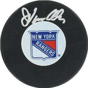 John Vanbiesbrouck New York Rangers Autograph Puck