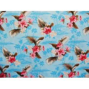 45 Islet and Orchid Ocean Blue 100% Cotton Print Fabric