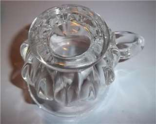 Indiana Glass LOTUS Thumbprint Punch Bowl Set 12 Cups, Bowl, Under
