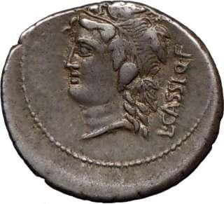 Roman Republic Cassius Q.f. Longinus 78BC Silver Coin
