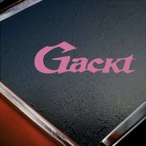 Gackt Pink Decal Jrock Japanese Car Truck Window Pink
