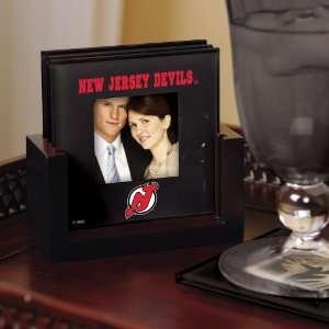 New Jersey Devils Art Glass Coaster Set Devils