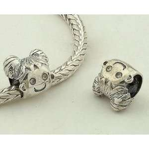 925 Sterling Silver European Style Antique Silver Lovely Girl Charms